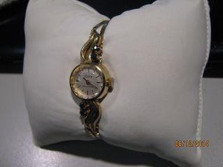 Damenuhr Condor 115 17 Shokproof 835er Silber Vergoldet Saphirsteine,  Handaufzug Bild