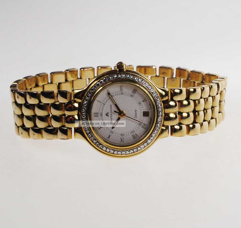 Maurice Lacroix Damen - Armbanduhr Quartz Vergoldet Ref 75141 Armbanduhren Bild