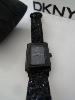 ::: Dkny Uhr Damenuhr Ny8712 ♥ ♥ Armbanduhr Damen Schwarz Bild