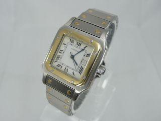 Cartier Santos Gm Automatik Stahl Gold Herrenuhr Bild