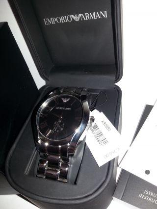 Emporio Armani Ar0680 Herren Uhr Edelstahl Silber Uvp 259,  - Box Bild