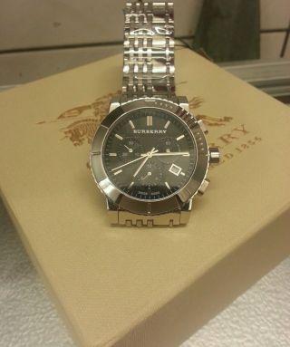 Burberry Bu2304 Herren Chronograph Swiss Made Absolut Uvp 595€ Bild