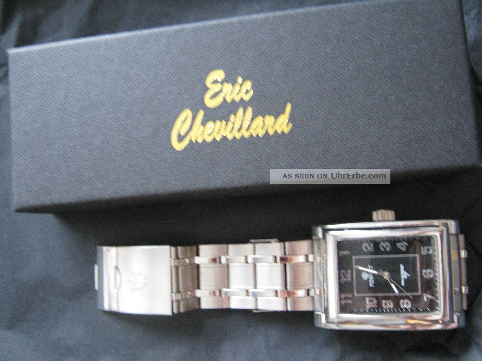 Perfect Klassische Herren Uhr - Wasserresist.  30 M V.  Eric Chevillard Armbanduhren Bild