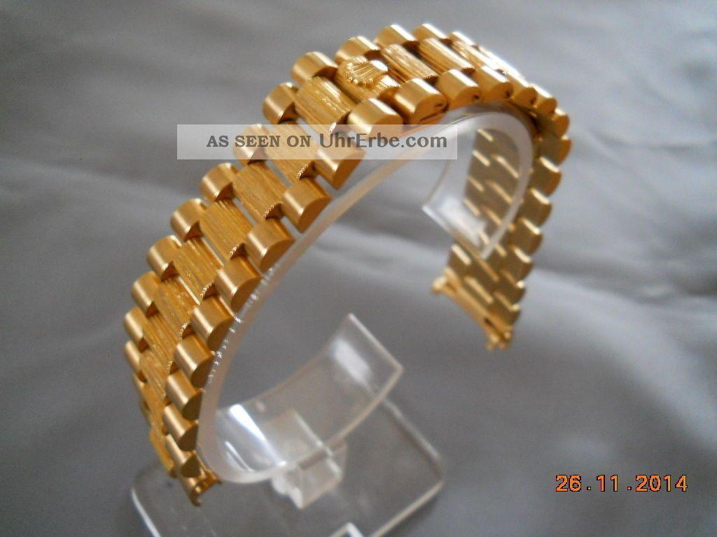 rolex president gold 18k 750 armband bark kein bruchgold