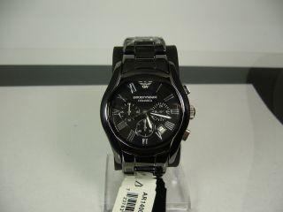 Emporio Armani Ar1400 Ceramica Chronograph Mit Box & Papiere Bild