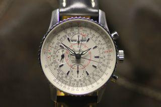 Breitling Montbrillant Datora Stahl Automatik Chronograph 43 Mm Komplett Bild