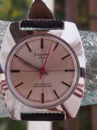 Herren - Armbanduhr Lugano,  Handaufzug,  Stoßgesichert,  Swiss Made Bild
