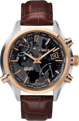 Timex Iq Weltzeit Herren Uhr T2n942 Bild