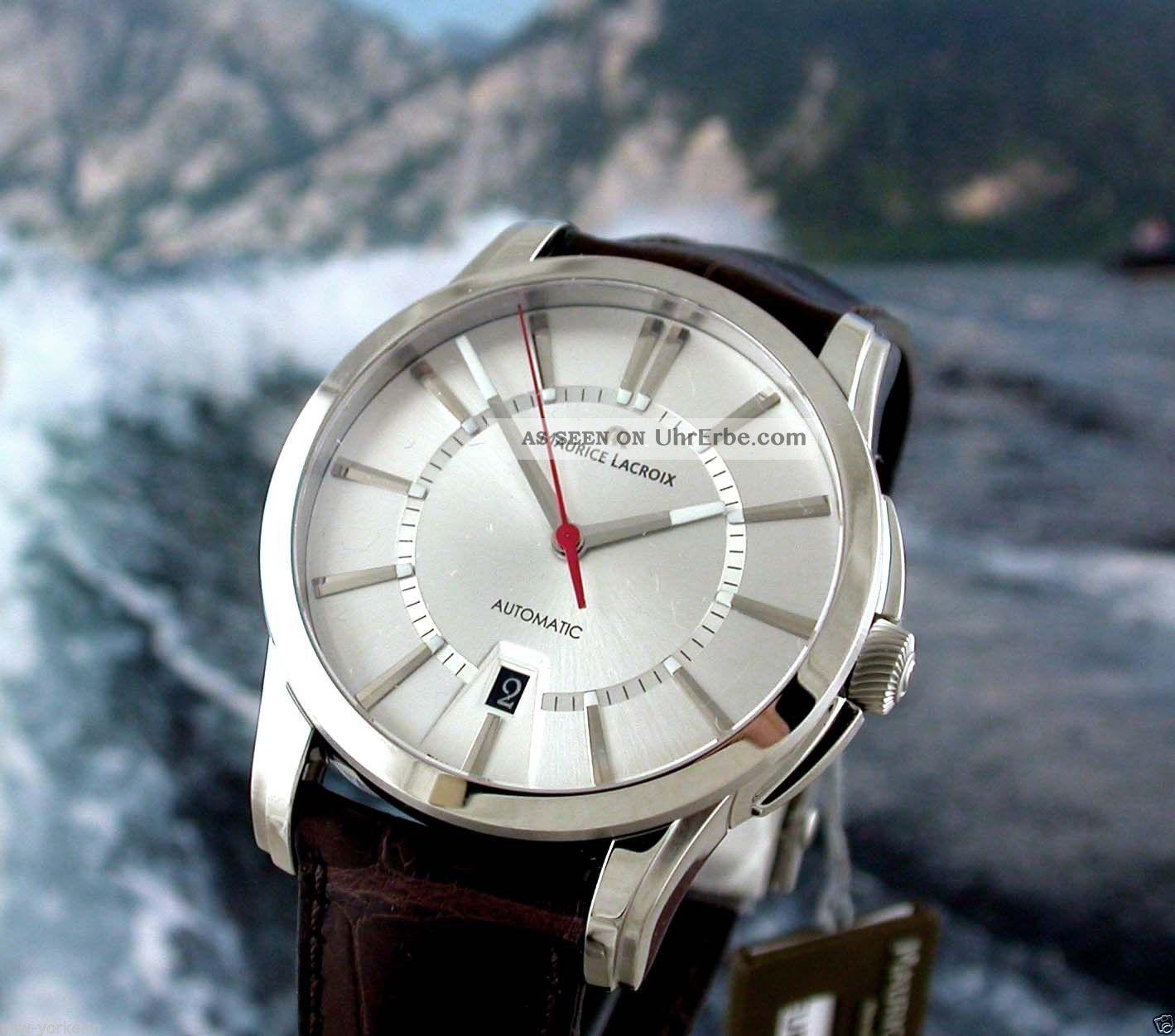Org Maurice Lacroix Pontos Date Edelstahl Limited Edition Armbanduhren Bild