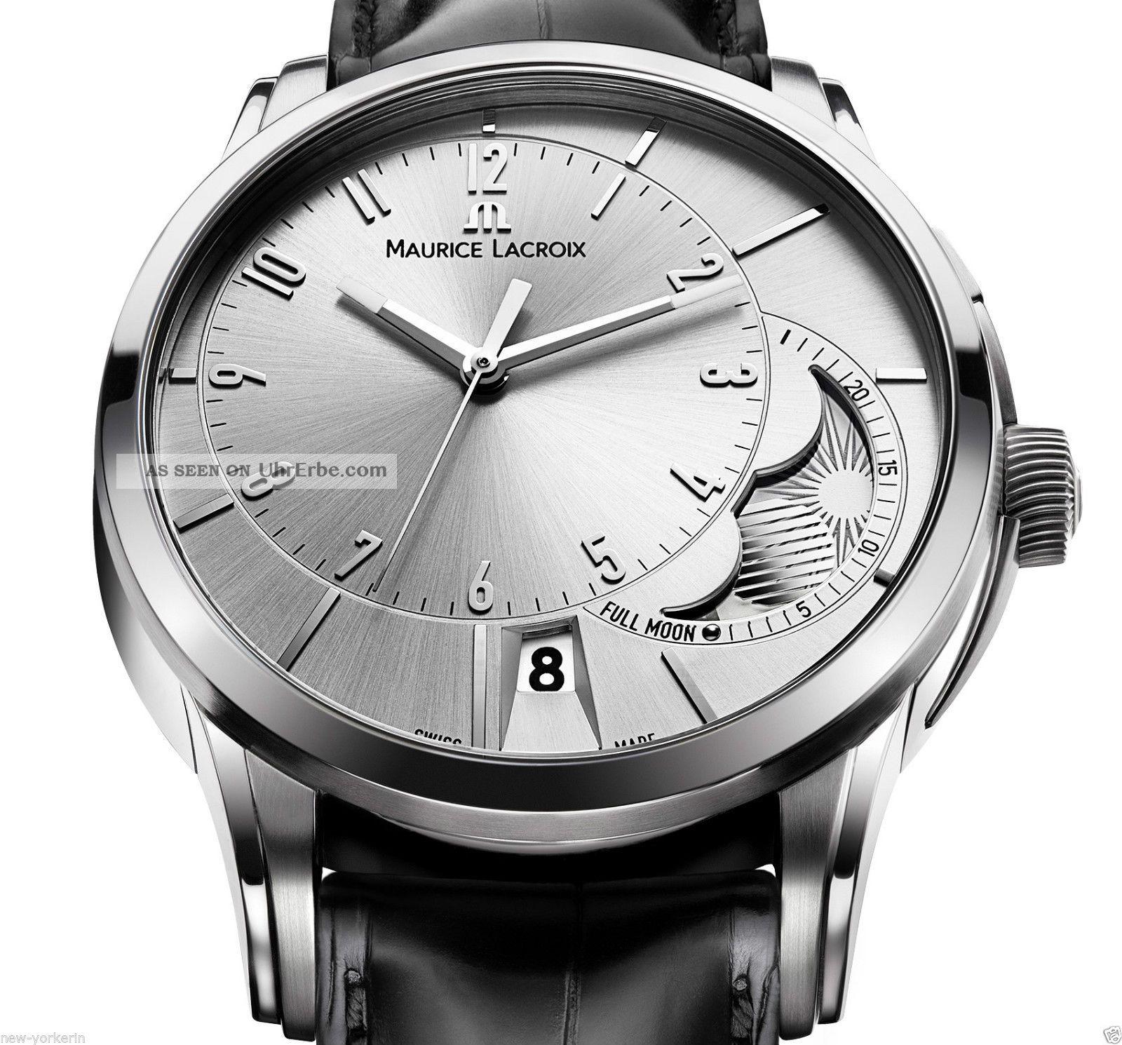 Maurice Lacroix Herrenuhr Pontos Decentrique Armbanduhren Bild