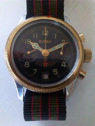 Gebrauchter,  Klassischer Chronograph - Buran (polijot) Bild