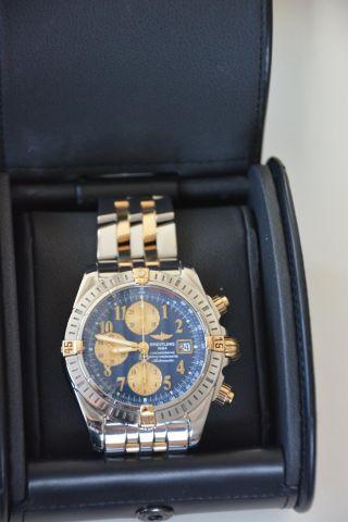 Breitling Chronomat Stahl/gold Papiere,  Box Bild