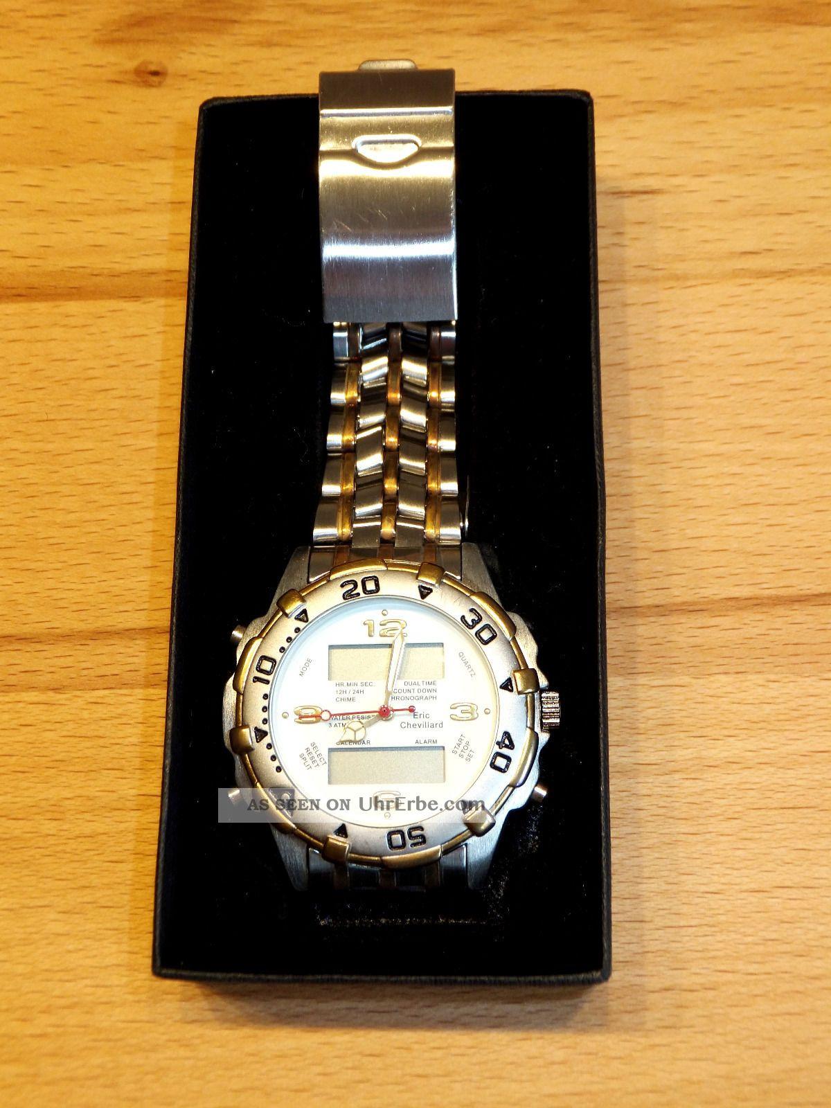 Eric Chevillard - Herren - Uhr - Alarm/analog,  Digital/datumsanzeige/edelstahl Armbanduhren Bild