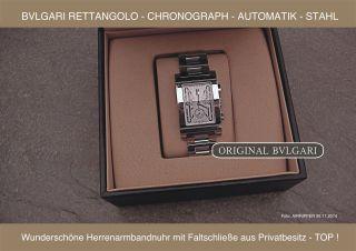 - Bulgari - Rettangolo - Chronograph - Automatik - Stahl - Top Bild