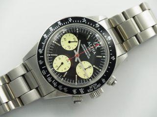 Alpha Dayton Paul Newman Handaufzug Chronograph St19 Marina Militare Parnis 05 Bild
