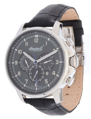 Ingersoll Herren Armbanduhr Russel Limited Edition Schwarz In3215gy Bild