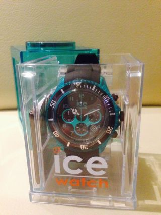 Ice Watch Chrono Big Big Black Turquoise Big Big Ch.  Kte.  Bb.  S.  12 Ovp Bild
