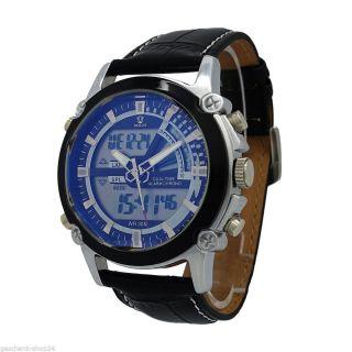 Herren Armband Uhr Alarm Wecker Wasserdicht Led Digital Stoppuhr Quarz Mode Bild