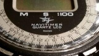 Vintage Breitling Navitimer 9416 Quartz Lcd Top Bild
