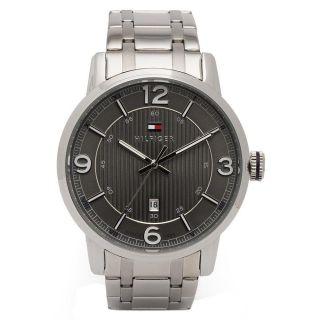 Armbanduhr Tommy Hilfiger 1710345 Herren George Edelstahl Band Grau Ziffernb. Bild