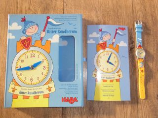 - Kinder Armbanduhr Von Haba - Die Uhr Lesen Lernen Mit Ritter Rundherum Bild