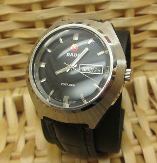 Rado Voyager Handaufzug 17 Jewels Schwarz Uhr Bild