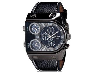 Oulm 9315 Xxl Groß Herren Armbanduhr Herrenuhr 3 Zeitzonen Bild