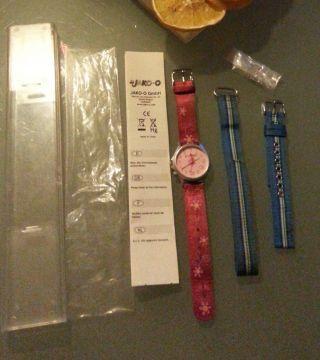 Jako - O Komm - Nach - Hause - Uhr Pink Armbanduhr Kinderuhr Mädchen 1jahr Alt Wenig Geb Bild