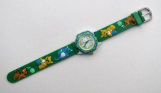 Kinderuhr Armbanduhr Quarz Katzen Grün Kinder Armbanduhr Bild