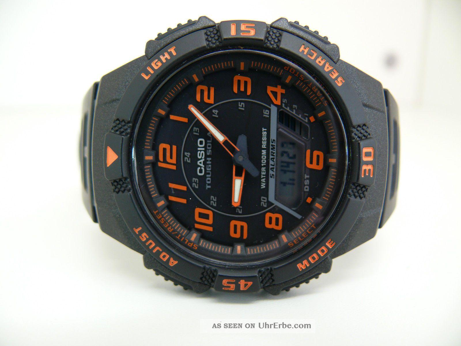 casio tough solar watch manual