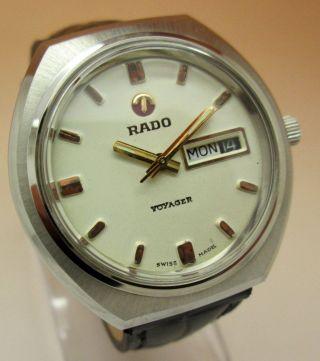 Rado Voyager Mechanische Atutomatik Uhr 17 Jewels Datum & Tag Lumi Zeiger Bild