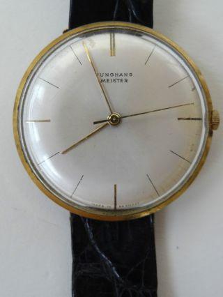 Alte Armbanduhr Junghans Meister Mit Automatischem Uhrwerk Und - Armband Bild
