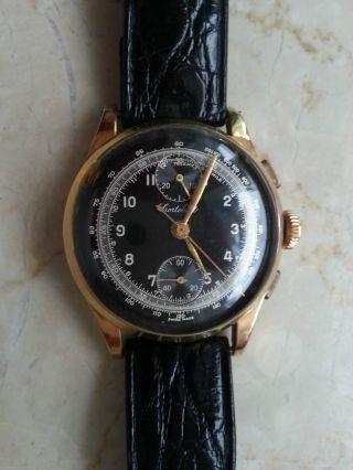 Uhr Gold Vergoldet Stempel 223 & 158 Swiss Chronograph Cortébert Bild
