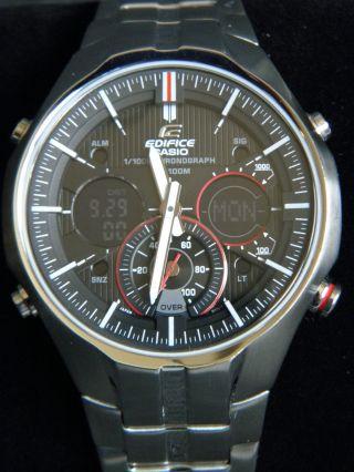 Casio Herren - Armbanduhr Edifice Analog - Digital Quarz Edelstahl Efa - 135d - 1a4vef Bild