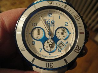 Ice Watch Chrono Party Weiß Blau Cuacao Ch.  Wbe.  Bb.  S.  13 Armbanduhr Uhr Bild