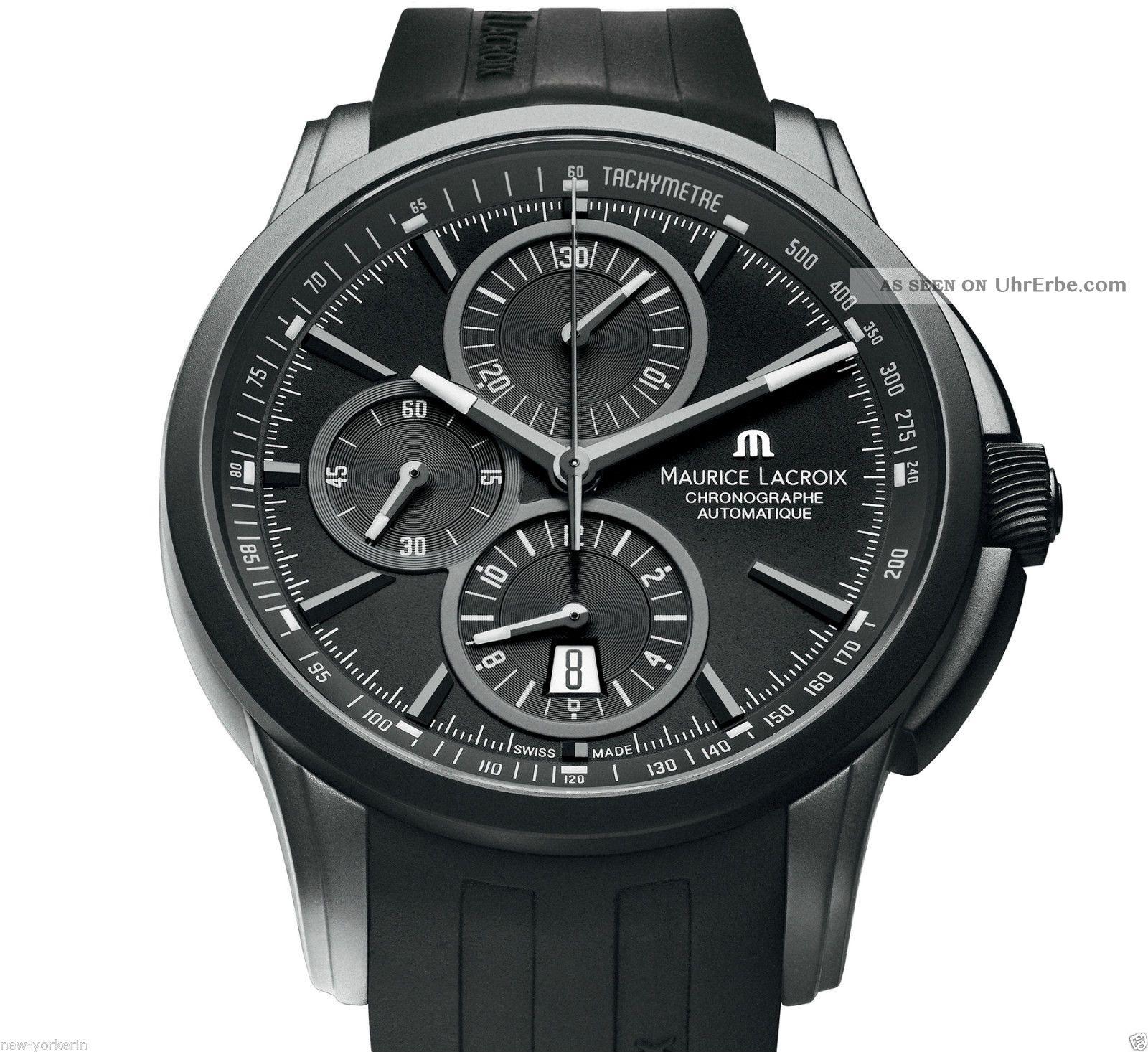 Org Maurice Lacroix Pontos Chronograph Full Black Armbanduhren Bild