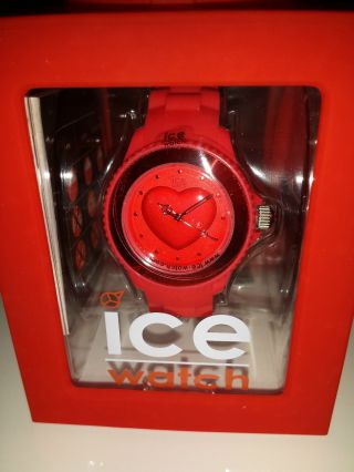 Ice Watch Love Uhr Armbanduhr Red Smal Bild