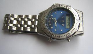 Vintage Lcd Watch Meister Anker Ma Anadigi Quarzuhr Stoppfunktion Alarm Läuft Bild