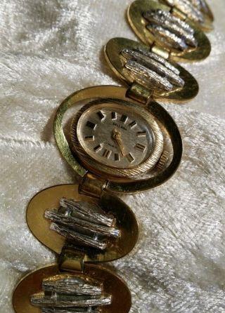 Bellana 17 Rubis Gold Plated Damen Armbanduhr (eisenbahner Uhr) Blattvergoldet Bild