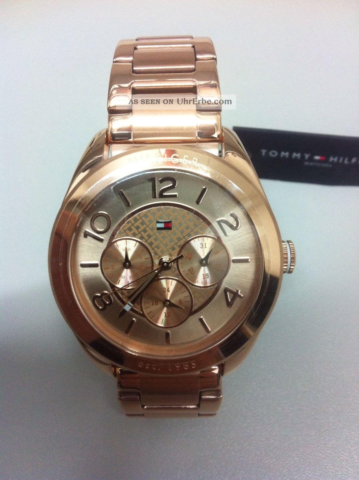 Tommy Hilfiger Damen Uhr Rosé Chronograph Armbanduhren Bild