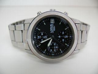 Lorus V657 - X052 Herren Flieger Armbanduhr 10 Atm Wr Seiko Werk Aviator Bild