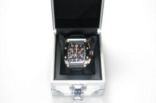 Tw Steel Uhr Herren Schwarz Leder Twce2002 Edelstahl Ausgefallene Uhr Bild