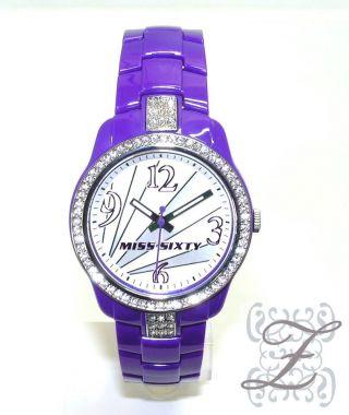 Neuheit Miss Sixty Watch Damenuhr Sra003 Jungle Strasssteine Farben Trend Bild