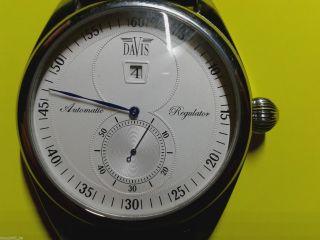 Davis Regulator Ein - Zeiger Automatik Glasboden Uhr Mit Separater Sekunde Bild
