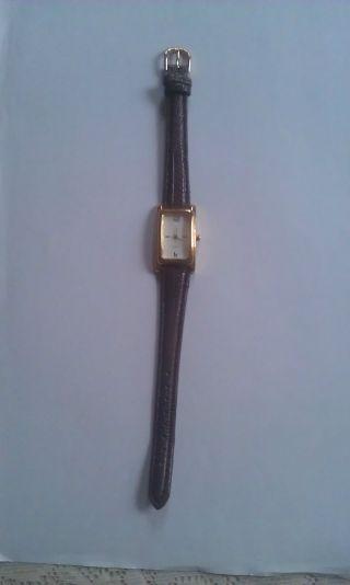 Armbanduhr Für Damen Mit Braunem Armband Analog Bild
