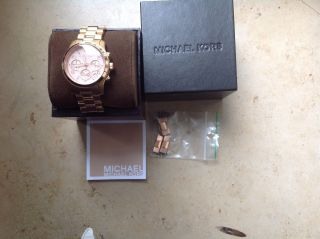 Michael Kors Damenuhr Armbanduhr Rosegold Top Rose Bild