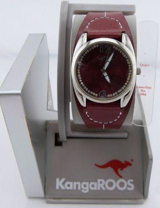 Kangaroos Damen Uhr Lederarmband,  Quarz Uhrwerk Wasserfest Bis 30m Bild