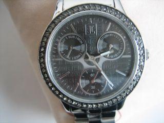 Jette Joop Damen Armbanduhr Chronograph Uhr Edelstahl Metallband – Bild