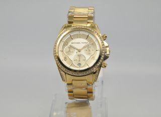 Michael Kors Mk5166 Damenuhr Armbanduhr Chronograph Uhr Edelstahl Bild