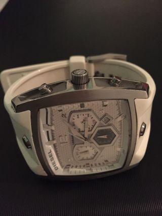 Diesel Herrenuhr Weiss Chronograph Sehr Fein Und Stillvoll Bild